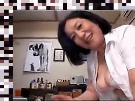asian mature jerking